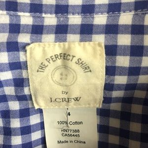 J. Crew Tops - J. Crew Perfect shirt in blue gingham
